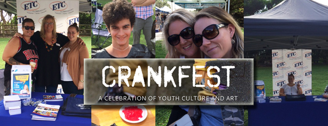 ETC staff at the CrankFest Youth Festival