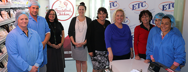ETC staff at specialised chickens