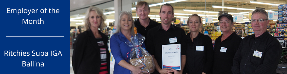 IGA Ballina Employer of the month