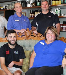 Lachie, Steffan and ETC staff at the Kew General Store