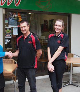 ETC staff and Taffy's Cafe staff