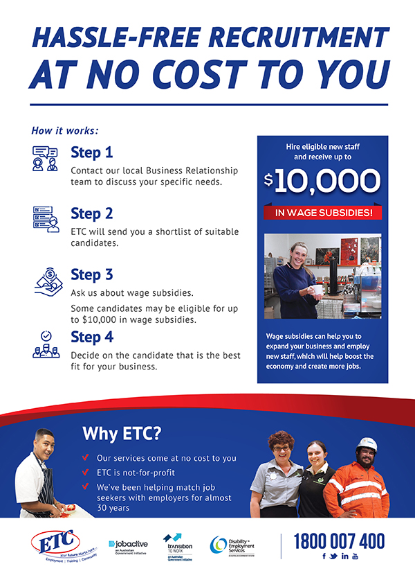 Steps to take to recruit with ETC
