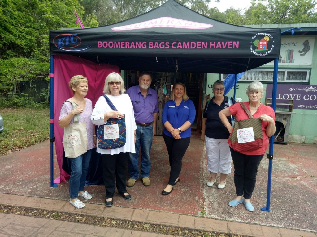 Boomerang Bags with their new gazebo