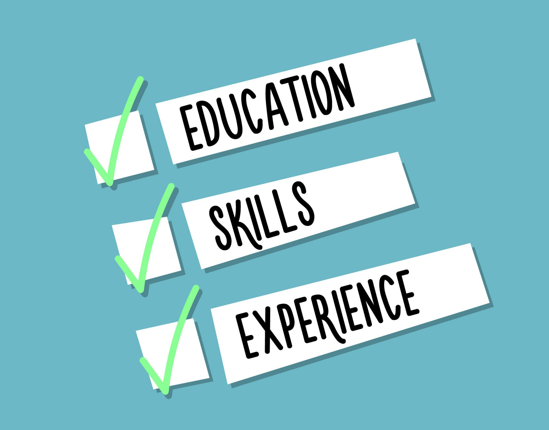 Education, Skills, Experience
