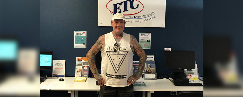 Kirk at the ETC office