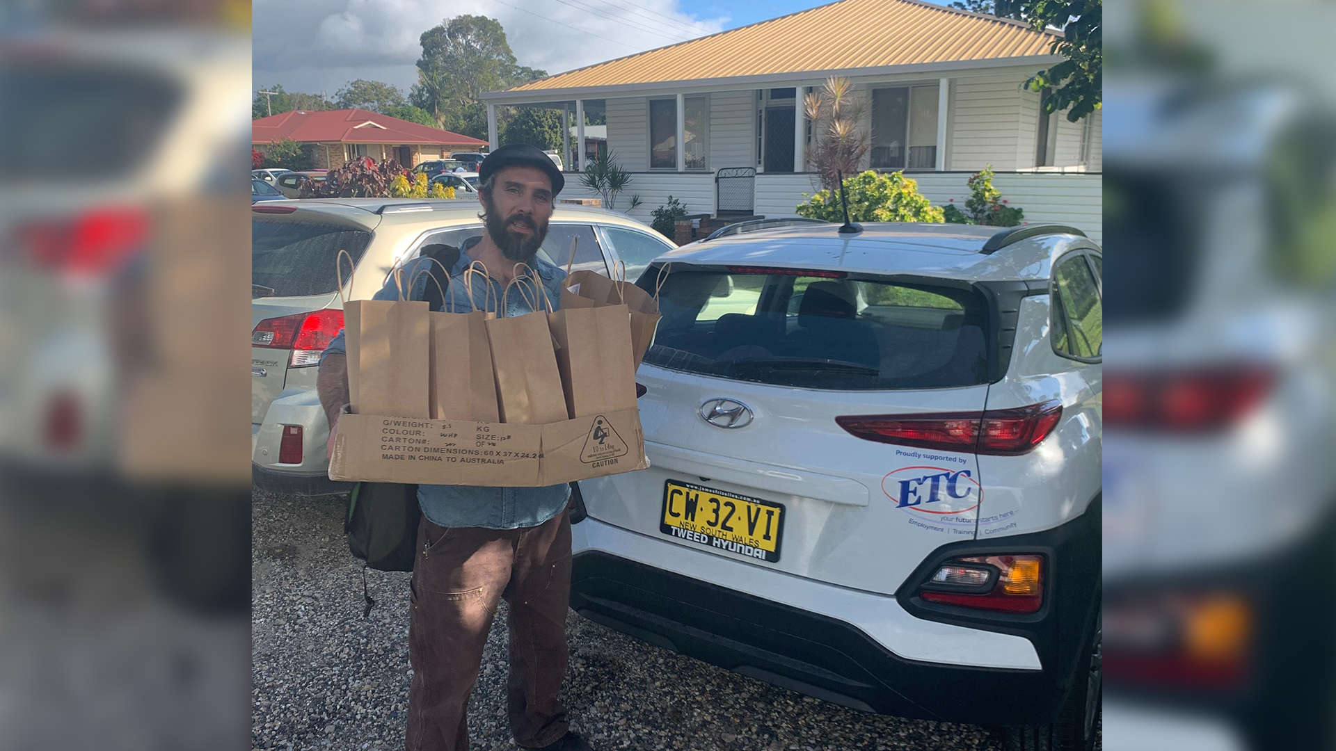 porch packages being delivered to local youth