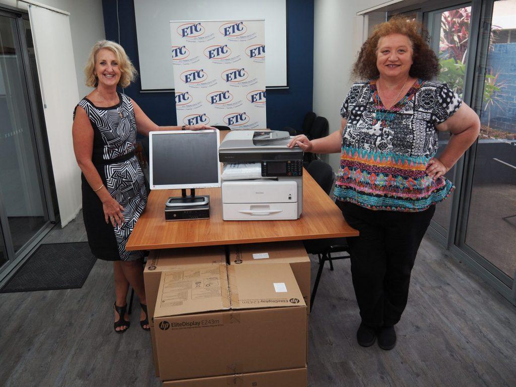 ETC CEO Jenny Barnett with Sharon Chamberlain