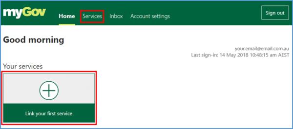 Linking Jobactive and MyGov - Step 1 screenshot