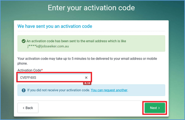 Linking Jobactive and MyGov - Step 5 screenshot