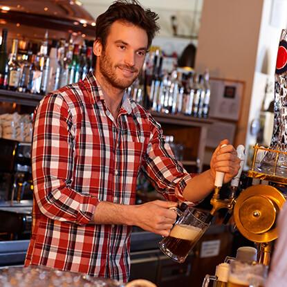 RSA man pulling beer